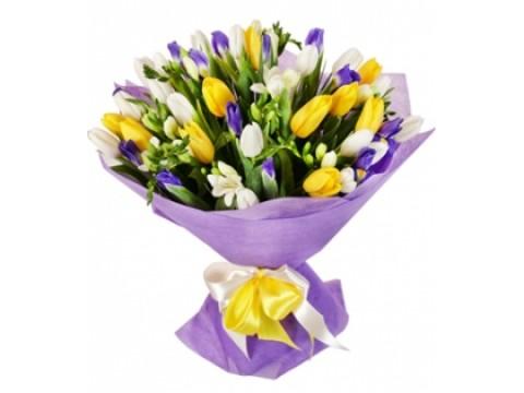 букет тюльпаны + ирисы